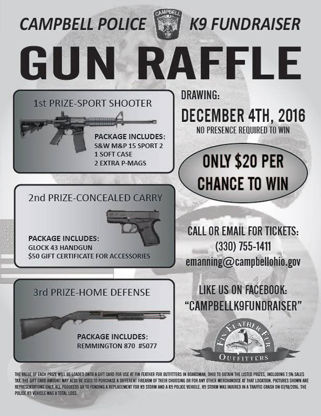 defend them gun giveaway cbell ohio police department holding gun raffle 7958