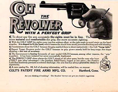 Colt Revolver Ad from 1910