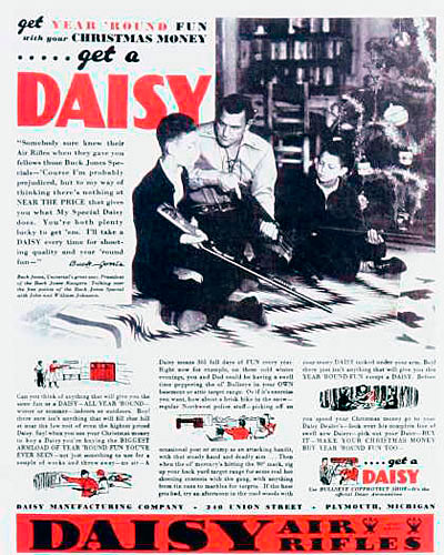 Daisy Air Rifle Ad from the 1930s