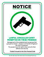 pro gun sign