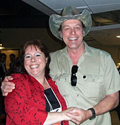 Linda Walker with Ted Nugent