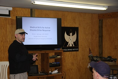 Dr. Brian Springer lectures on Tactical Combat Casualty Care (TCCC)