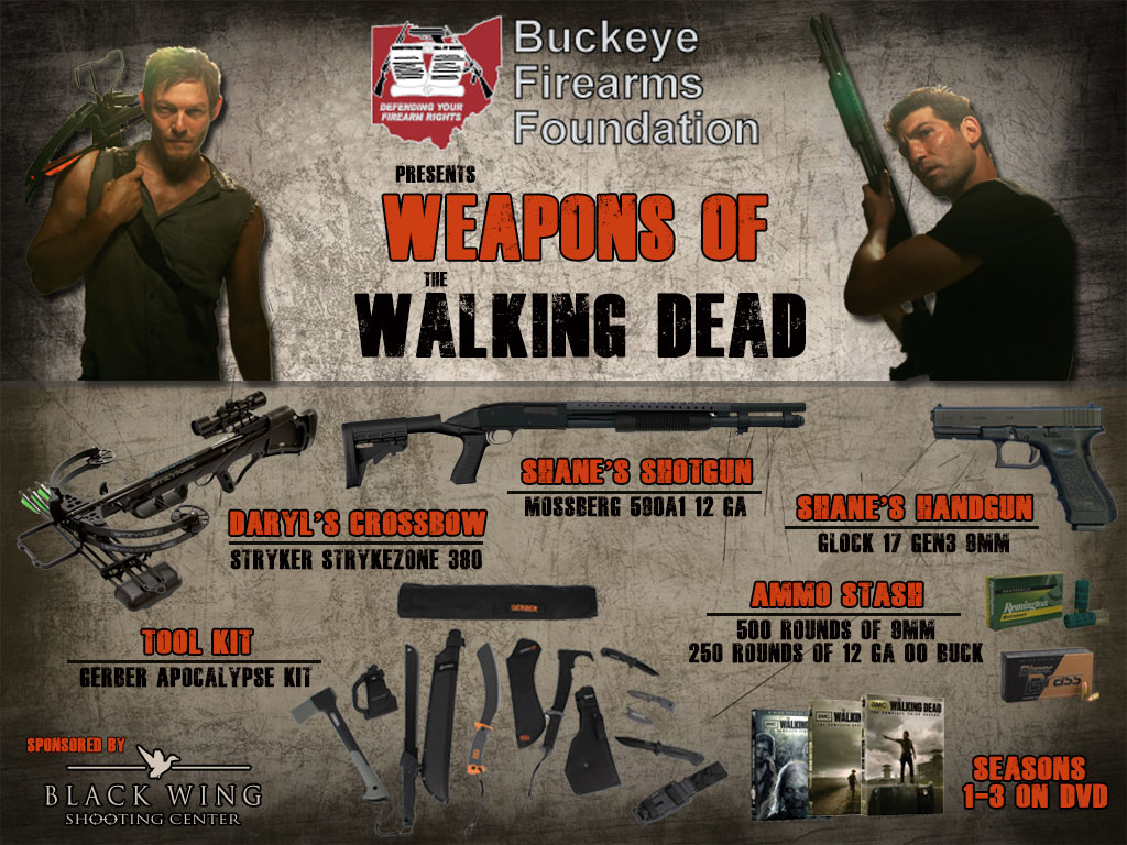 Weapons of The Walking Dead Raffle - $3,000 worth of guns and gear ...