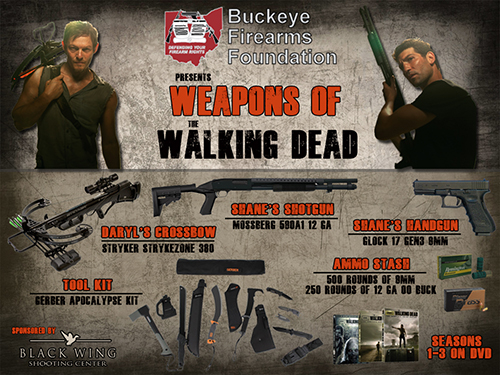 Weapons of The Walking Dead Raffle