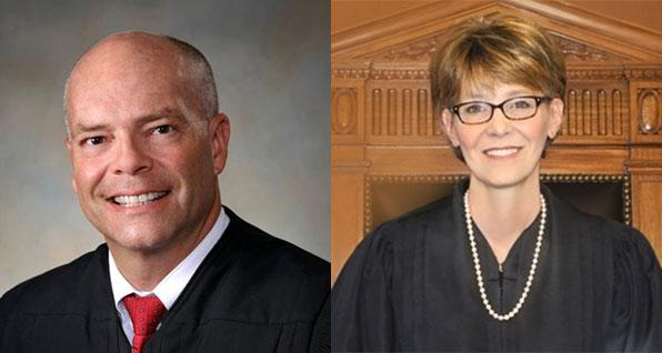 Judge Craig Baldwin and Justice Mary DeGenaro