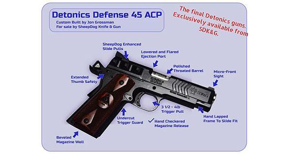 Sheepdog Knife & Gun Detonics 45