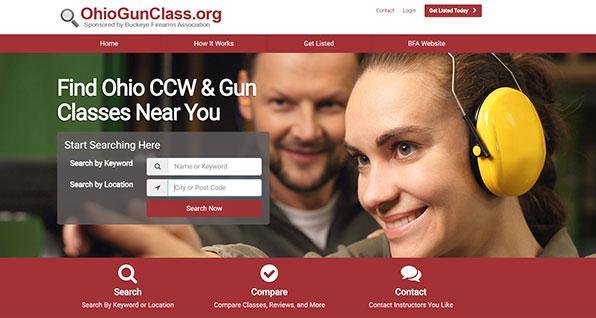 ohio gun class searchable directory